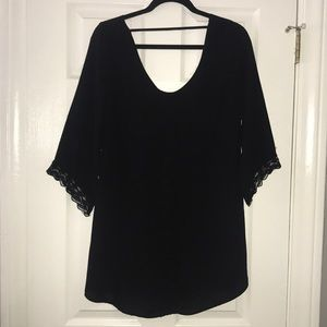 ASTR Black Lacey Dress - Small
